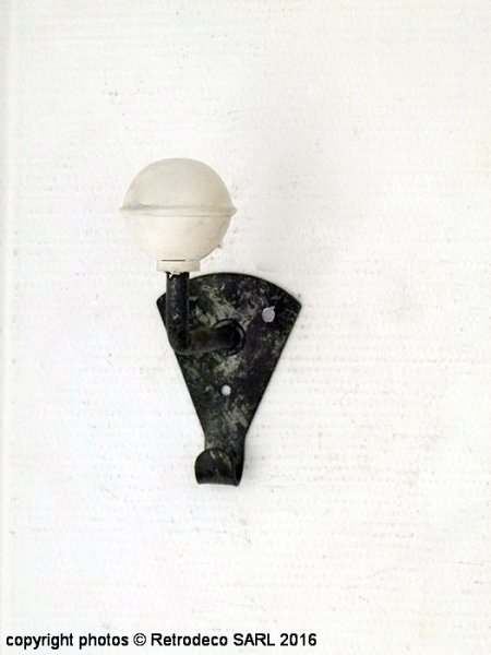 White and zinc coat hook, factory deco, Sphere Inter
