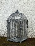 Metal bird cage, antique style