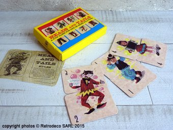 VIintage Heads And Tails Card Game
