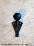 Green metal coat hook, factory style, Sphere Inter