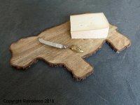 Wooden cheese cutting board cow, countryside style, Chehoma