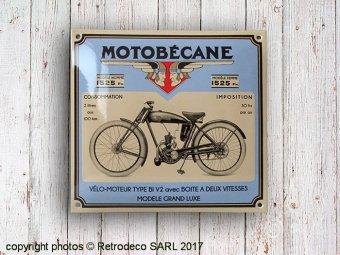 plaque maill e motobecane d co vintage email replica mtbc. Black Bedroom Furniture Sets. Home Design Ideas