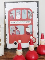 Metal sign Christmas express Ib Laursen