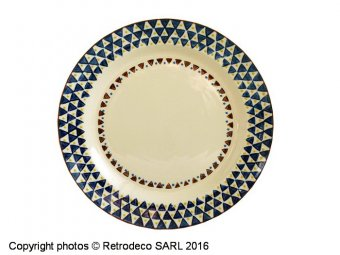 Ceramic plate Paragon réf.1, ethnic style, Chehoma