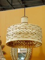 Bamboo hanging lamp Hawaï, natural style, Athezza