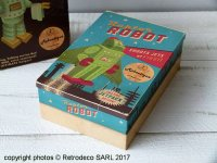 Metal storage box Roboutique Raptor robot, vintage deco