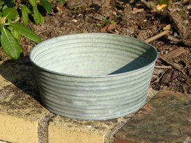 Medium striped zinc basin, countryside style