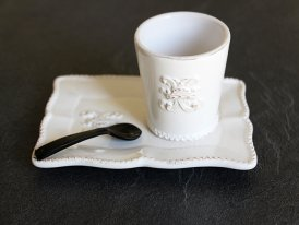 Cup and small tray Vaux le Vicomte Chehoma