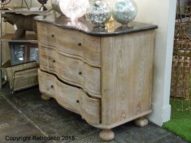 Chest in poplar with marble top Chehoma