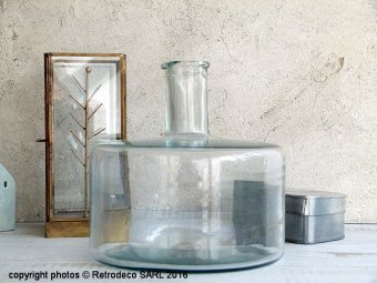 Large clear glass demijohn Roosa, Madam Stoltz