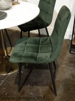 Set of 2 velvet chairs Manta Vert Empire Hanjel