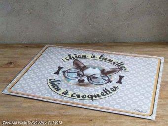 Tapis Pour Gamelles Chiens Lunettes Natives D Co Vintage 211426