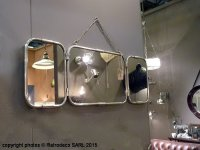 Triptych nickel mirror small, factory deco, Chehoma