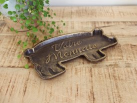 Returned change plate Pig, bistro decor, Antic Line