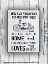 Plaque decorative Mom said you'd better not miss..., Retrodeco