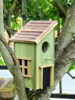 Clear green wooden birds house Cabane, Sphere Inter