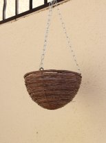 Medium wooden suspension for plant, country decor, Athezza