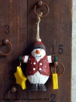 Wooden snowman, Christmas deco, Chehoma