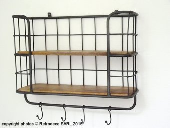 Shelves with hooks, factory deco, Antic Line