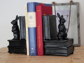 Metal bookends Alice, antique style, Chehoma