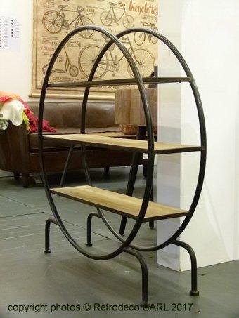 etag re sur pied ronde bois et m tal hanjel d co atelier 516319. Black Bedroom Furniture Sets. Home Design Ideas