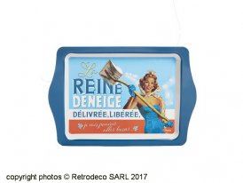 Small metal tray La Reine déneige, gift idea, Natives deco