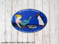Enamelled oval metal sign Les Truffes au nougat Email Replica