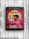 Baseball metal sign, retro deco, Antic Line
