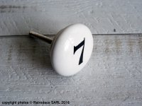 Porcelain door knob 7, factory deco, Antic Line