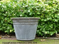 Large planter zinc, antique style, Chehoma