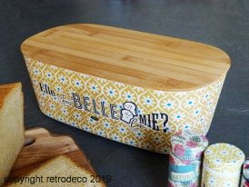 Bamboo bread box Elle est pas belle ma mie Natives
