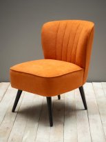 Orange armchair Hopper pine and polyester Chehoma