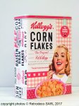 Large Corn Flakes Kellogg's box The Sunshine breakfast
