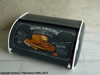 Metal bread Storage Coup de Food, retro deco, Natives