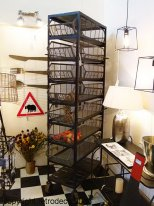Metal shelves with 7 baskets, factory style, Chehoma