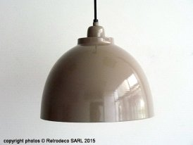 Suspension Kylie greige PM, déco scandinave, Retrodeco