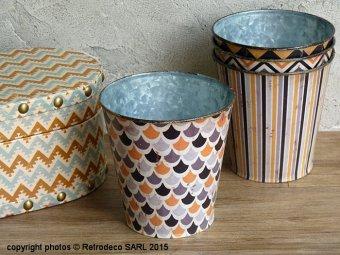 cache pot ecailles d co ethnique chic chehoma 63851297 3. Black Bedroom Furniture Sets. Home Design Ideas