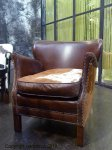 Leather anc cow skin armchair Turner Chehoma