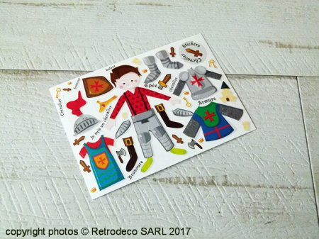 Postcard Stickers Chevalier, Anne-Sophie Lecas