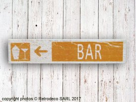 Wooden sign Bar, bistro style, Sphere Inter