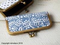 Long retro purse with floral pattern fabric, Anhad