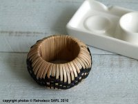 Napkin ring bamboo natural and black, Madam Stoltz