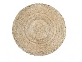 Round jute rug 180cm, natural decor, Madam Stoltz