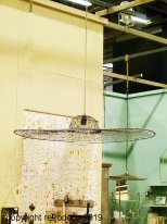 XXL Hanging lamp Gardena, factory decor, Chehoma