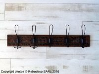 Wooden coat rack Conche, antique deco, Athezza