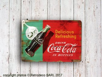 Medium metal sign Coca-Cola Delicious Refreshing