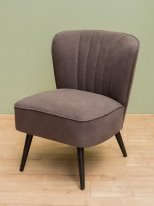Grey armchair Hopper pine and polyester Chehoma