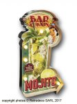 Illuminated metal sign Mojito, bistro style, Natives