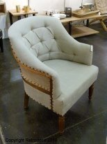 Linen and jute armchair Valbelle, cosy style, Chehoma