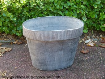 Small stripe cuff metal Planters, countryside style Tobs